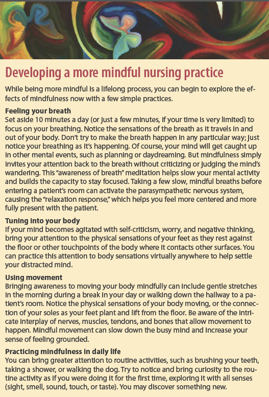 Developing a more mindful nursing practice