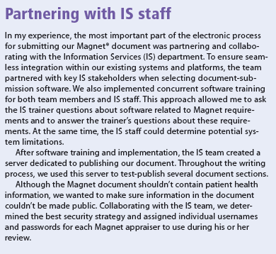 Partnering with IS staff