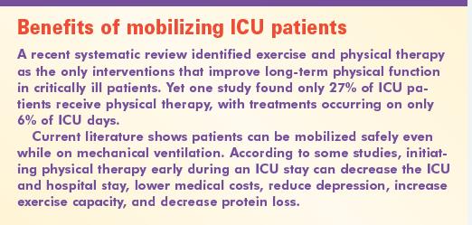 Benefits of mobilizing ICU patients