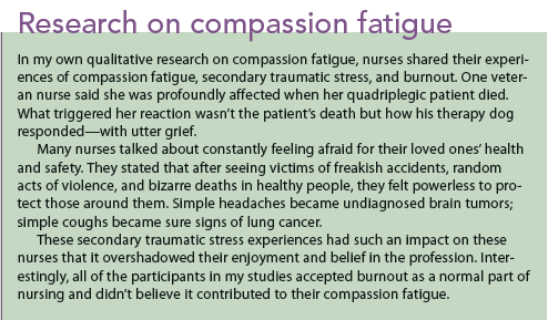 Research on compassion fatigue